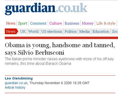 obama è giovane, bello e abbronzato